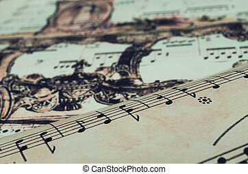 Images of notes on paper in vintage style. - Images of notes...