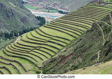 Inca settlement, Pisac, Peru.