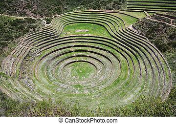 Moray, Sacred Valley of the Incas, Peru.