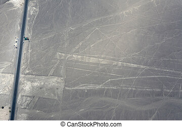 Nazca Lines - Aerial shot of the Nazca Lines in Nazca, Peru...