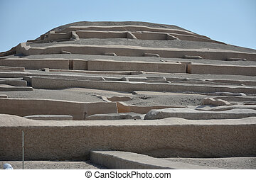Cauachi ruins near town Nasca. Peru Cauachi was the famous...