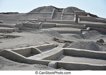 Cauachi ruins near town Nasca Peru - Cauachi was the famous...