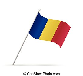 Romania Flag Illustration - Illustration of a flag from...