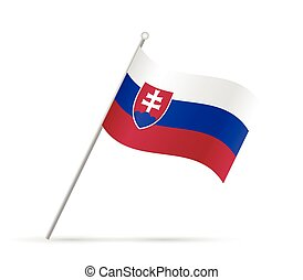 Slovakia Flag Illustration - Illustration of a flag from...
