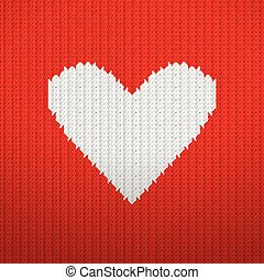 Knitted pattern heart