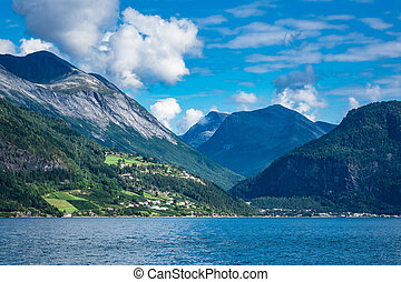 View to the Storfjord in Norway