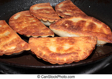pasties as a meat dish - hot delicious pasties as a meat...