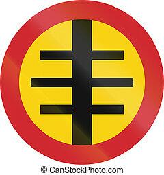 sueco, viejo, área, -, urbanizado, señal, (1937-1955),...
