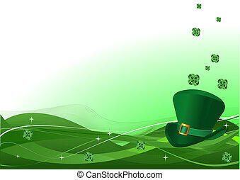 Spring background - St. Patrick%u2019s Day background with...
