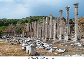 Archaeological site in Turkey - The Sanctuary of Asclepius...