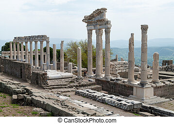 Archaeological site in Turkey - The Temple of Trajan in the...