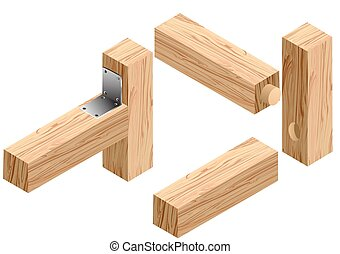 joinery connections1 isolated on a white background
