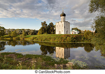 Church Intercession of Holy Virgin on Nerl River Russia -...