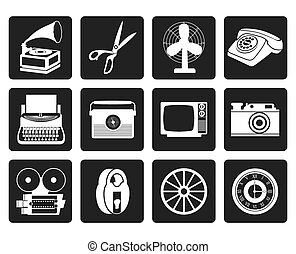 Retro business and office icons