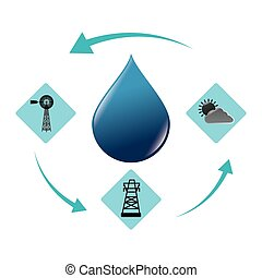 Green energy and ecology theme design, vector illustration...