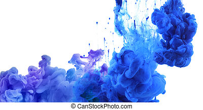 Acrylic colors in water. Abstract background. - Acrylic...