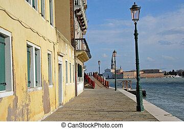Venice quay - Quay along south side of Dorsoduro, Venice