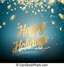 Happy holidays card.