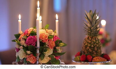 Decor Of Banquet Table - romantic decoration of banquet...