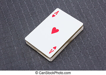 Cardboard playing cards for card games