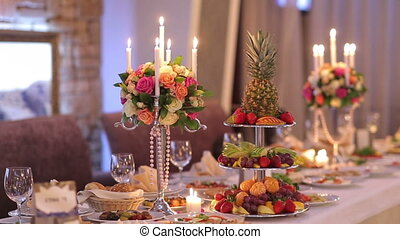 Romantic Decor Banquet Table - romantic decoration of...