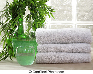 White Spa Towels