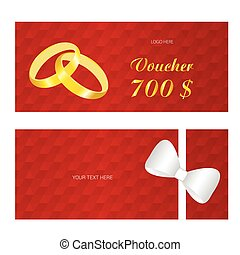 voucher vector with rings wedding