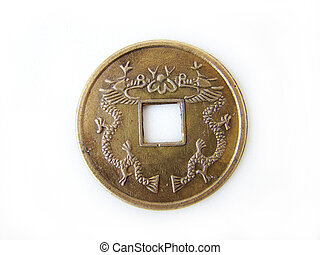 Chinese feng shui coin - Close-up of chinese feng shui coin...