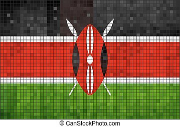 Flag of Kenyaeps - Flag of Kenya - Illustration, Abstract...