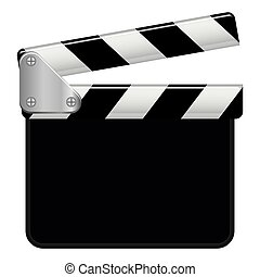 Illustration Vector Graphic Clapperboard with copyspace for...