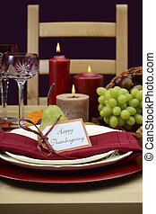 Happy Thanksgiving classic table setting. - Happy...