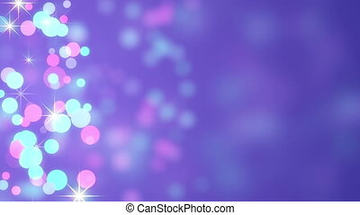 bokeh circles loopable abstract background