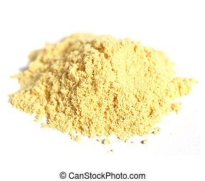 Mustard - Heap of yellow fine mustard powder spice -...