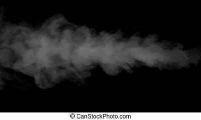 Different Speed Jets of Steam - Swirling flow of steam or...