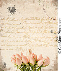 Little pink roses bouquet background - Little pink roses...