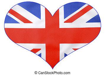Heart shape British Union Jack  Flag