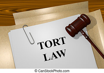Tort Law concept - Render illustration of Tort Law title On...