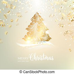 Christmas tree with sparks. - Christmas tree with sparks and...
