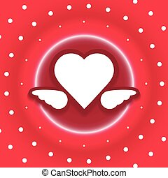 heart dots explode vector