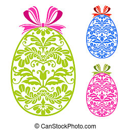 Easter ornaments eggs - Easter ornaments colorful eggs over...