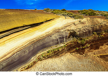 Multi Layered Rock Nature Background on Tenerife Canary...