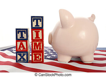 USA Tax Day, April 15, concept - USA Tax Day, April 15,...