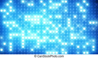 glittering blue mosaic disco wall loopable background -...