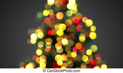 defocused christmas tree lights seamless loop - defocused...