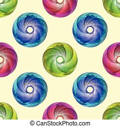 colored disks pattern