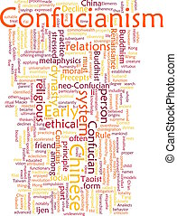 Confucianism word cloud - Word cloud concept illustration of...