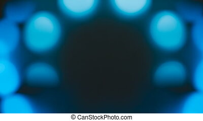 Blue and white bokeh moving. - Blue and white bokeh moving...