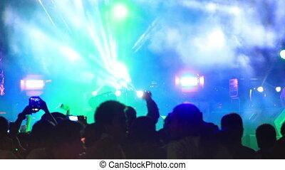 open-air concert flashlights