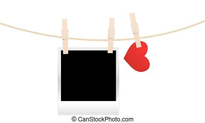 heart clothespins isolated - heart clothespins with picture...