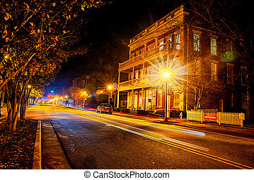 york south carolina downtown during christmas